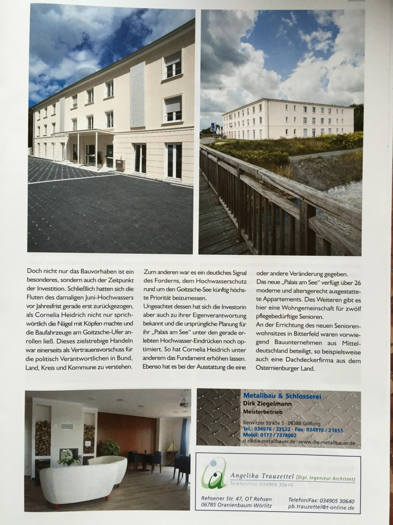 Palais am See, BTF 2